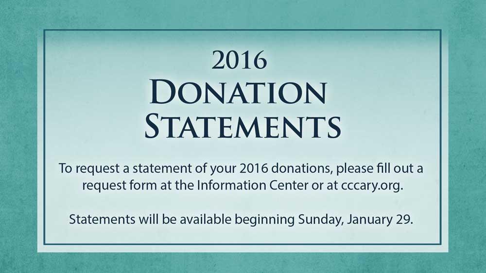 2016 Tax Statements