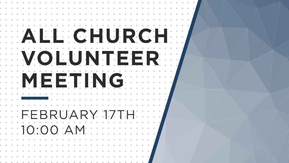Church Volunteer Meeting
