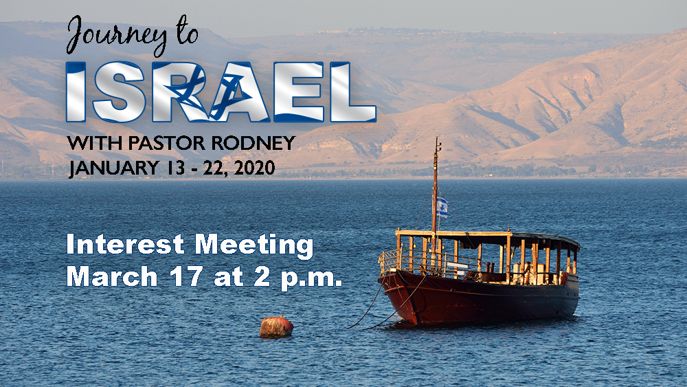 Journey To Israel 2020