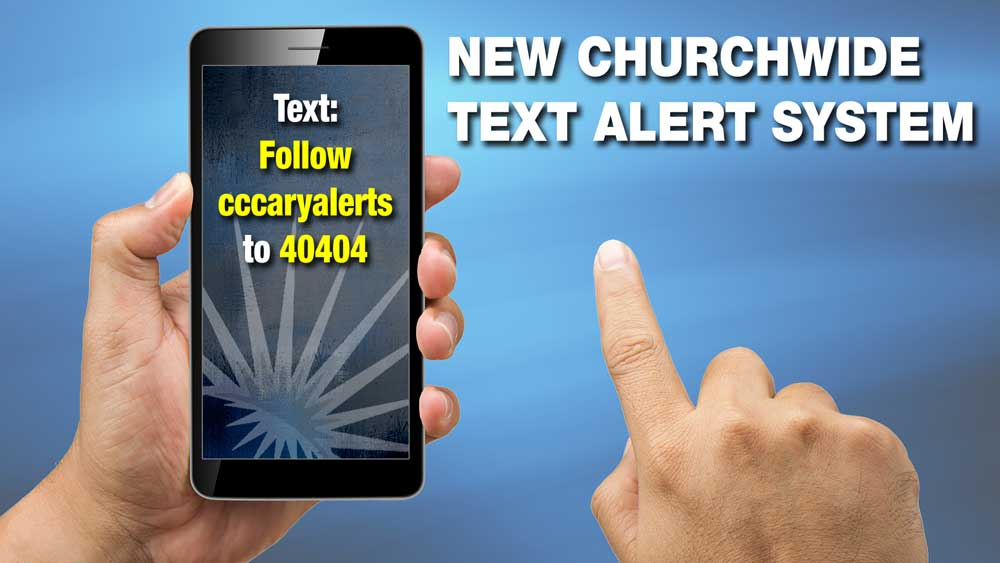 Church-wide Text Alerts